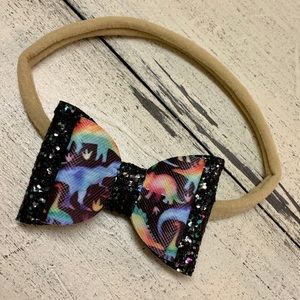 🌟$5 ADD ON!🌟Dinosaur glitter hair bow headband